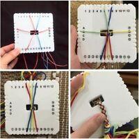 2Pcs DIY Braided Round Square Kumihimo Beading Cord Disc/Disk Braiding Plate