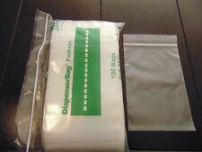 "100 Heavy Duty 4x6 Clear Reclosable Baggies 4Mil 4""x6"" ZIP LOCK Plastic Poly Bag"