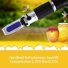 032 Wine Brix Specific Refractometer Gravity Atc Sugar Test Kit Tool