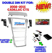 CADILLAC 2008-2015 CTS SILVER DOUBLE DIN RADIO INSTALL KIT WITH INTEGRATION