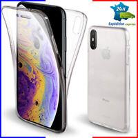 Coque intégrale iPhone i/6/s/s+/7/+/8/plus/x/xs/max TPU transparente tel housse