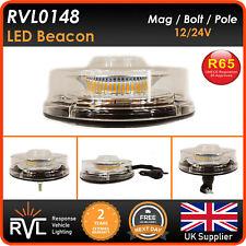 More details for 12/24v led flashing beacon magnetic, bolt, flex din pole, strobe light lightbar