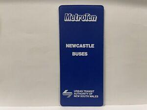 NSW Urban Transit Metro Ten Blue Bus Ticket & Holder Newcastle Buses Mint
