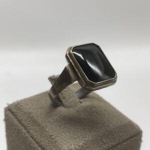 835er Silber Ring | Antik | Onyx