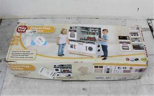 PLAYTIVE Children's Deluxe Wooden Toy Kitchen Fridge & Oven Play Set NEW