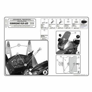 Givi D408KIT Windshield Fit Kit For Kawasaki KLR650 2008-2018