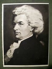 VINTAGE PICTURE OF MOZART FROM OLD BOOK 1916 GOOD FOR FRAMING