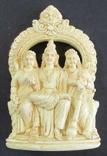 Carved LAKSHMI NARAYAN HINDU DEITY Figure Resin Statue India God Travel Souvenir