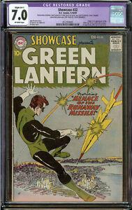 Showcase #22 CGC 7.0 Slight (B) OW - 1st Silver Age Green Lantern (Hal Jordan)