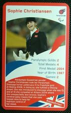 1 x card single swap Paralympic Heroes Sophie Christiansen Equestrian