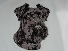 Embroidered Short-Sleeved T-Shirt - Miniature Schnauzer DLE3714