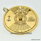 BRASS NAUTICAL VINTAGE STYLE 100 YEAR PERPETUAL CALENDAR PENDENT CHARM ANTIQUE