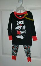 Mickey Mouse Old Navy  Boys Toddler 2 PC Long Sleeve Pajama Set (5T)Rise N Shine