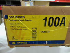 Square D Qo2100Nrb Circuit Breaker Box 2 Pole 100A 120/240V Q02100Nrb New!