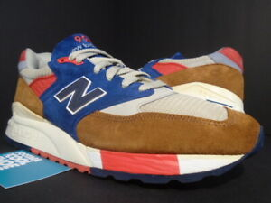 NEW BALANCE 998 M998HTB J. CREW HILLTOP BLUES BROWN BLUE RED OFF WHITE KITH 9.5