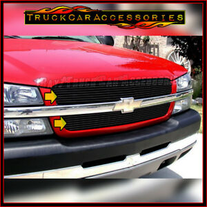 For CHEVY Silverado 1500 2003-2005 & 2500/3500+HD 2003-2004 Black OVERLAY Grille