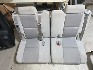 07-14 Chevy Tahoe Suburban GMC Yukon XL Third 3rd Row Seats Gray Grey Cloth 09