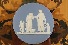 Rare Antique Wedgwood Light Blue Jasper Ware Domestic Employment Plaque (c.1820)