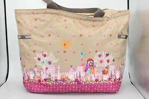LeSportSac It's A Small World Morocco Sun Caravan Dreams Bag Purse Tote Disney