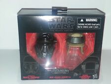 Star Wars Black Series Titanium Series Imperial Death Trooper and Rebel Comma...