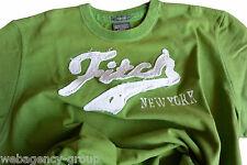 T-Shirt Abercormbie & Fitch - mis. L - col. Verde logo A&F Bianco