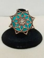 Shaped Ring Size 8 Barse Turquoise & Copper Star