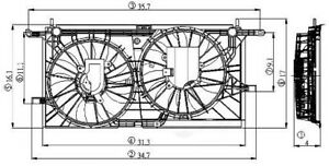 Engine Cooling Fan Assembly Global 2811535