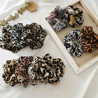 Chiffon Leopard Snake Dot Print Ponytail Hair Scrunchies Elastic Hair Ties Ropes
