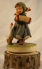 "Vintage Japan Spinning Music Figurine Hummel look girl ""Do Re Mi"""