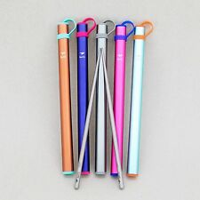 Keith Titanium Ti5820 Round Handle Chopsticks with Al Case (Set of 5 colors)
