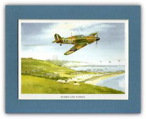 Aviation Art - Mounted Print    Hawker Hurricane - Tim O'Brien