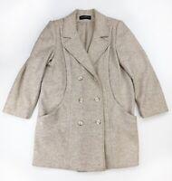 Alorna VTG 80s Peacoat Heavy Wool Double Breasted Coat Jacket Lined Womens sz XL