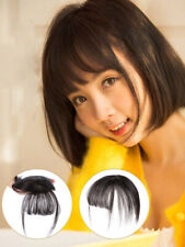 3D Neat Air Bangs/Fringe Topper Hairpiece Clip In Real Human Cover Thin  Hair