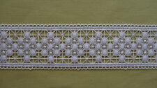 Meterware, Plauener Spitze 7,5 cm breit, Fensterdeko, Polyester, weiß, Borte