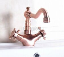 Antique Red Copper Kitchen Sink bathroom basin Mixer Tap Faucet 8nf256