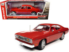 1970 PLYMOUTH DUSTER HEMMINGS CARS 1/18 DIECAST CAR MODEL BY AUTO WORLD AMM1205