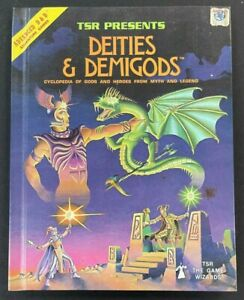 1980 RARE DUNGEONS & DRAGONS HARDBACK BOOK DEITIES & DEMIGODS