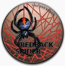2020 Australian REDBACK SPIDER Colorized 1oz .999 Silver Coin - Box & COA