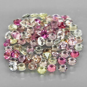 Round Diamond Cut 2 mm.UNHEATED! Fancy Color Sapphire Songea 91Pcs/4.16Ct.