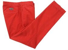 Ralph Lauren Rugby Bright Devil Red Cotton Corduroy Casual Pants 36 x 32