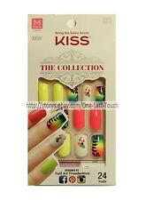 KISS* 24 Glue-On Nails #62272 TEMPTATION The Collection Ryoko MEDIUM Neon 1a