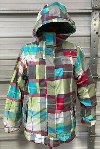 686 Snowboard Jacket - Girls XL - Youth Evolution - Plaid Squares - Ski Jacket