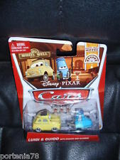 Disney Pixar Cars 2 LUIGI & GUIDO w/ Sharker and Glasses