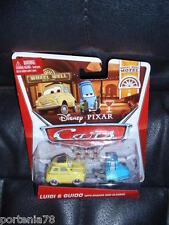 Disney Pixar Cars 2 LUIGI & GUIDO w/ Sharker and Glasses