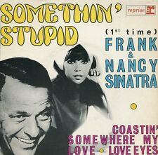 "FRANK & NANCY SINATRA -7"" Somethin' Stupid (F,Reprise,1967) französische EP"