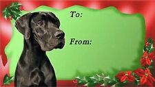 Great Dane Christmas Labels by Starprint - No 1