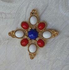 Spilla DeLizza&Elster per Sarah Coventry Americana Maltese cross brooch 1970s
