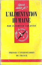 L'ALIMENTATION HUMAINE ETHNOLOGIE CUISINE gastronomie que sais-je PUF