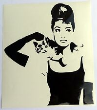 adesivo Audrey Hepburn auto moto scooter wall sticker decal vynil vinile attrice