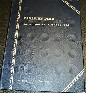 Whitman Coin Collector's Book With 38 Silver Canadian Dimes Dated 1896 to 1936